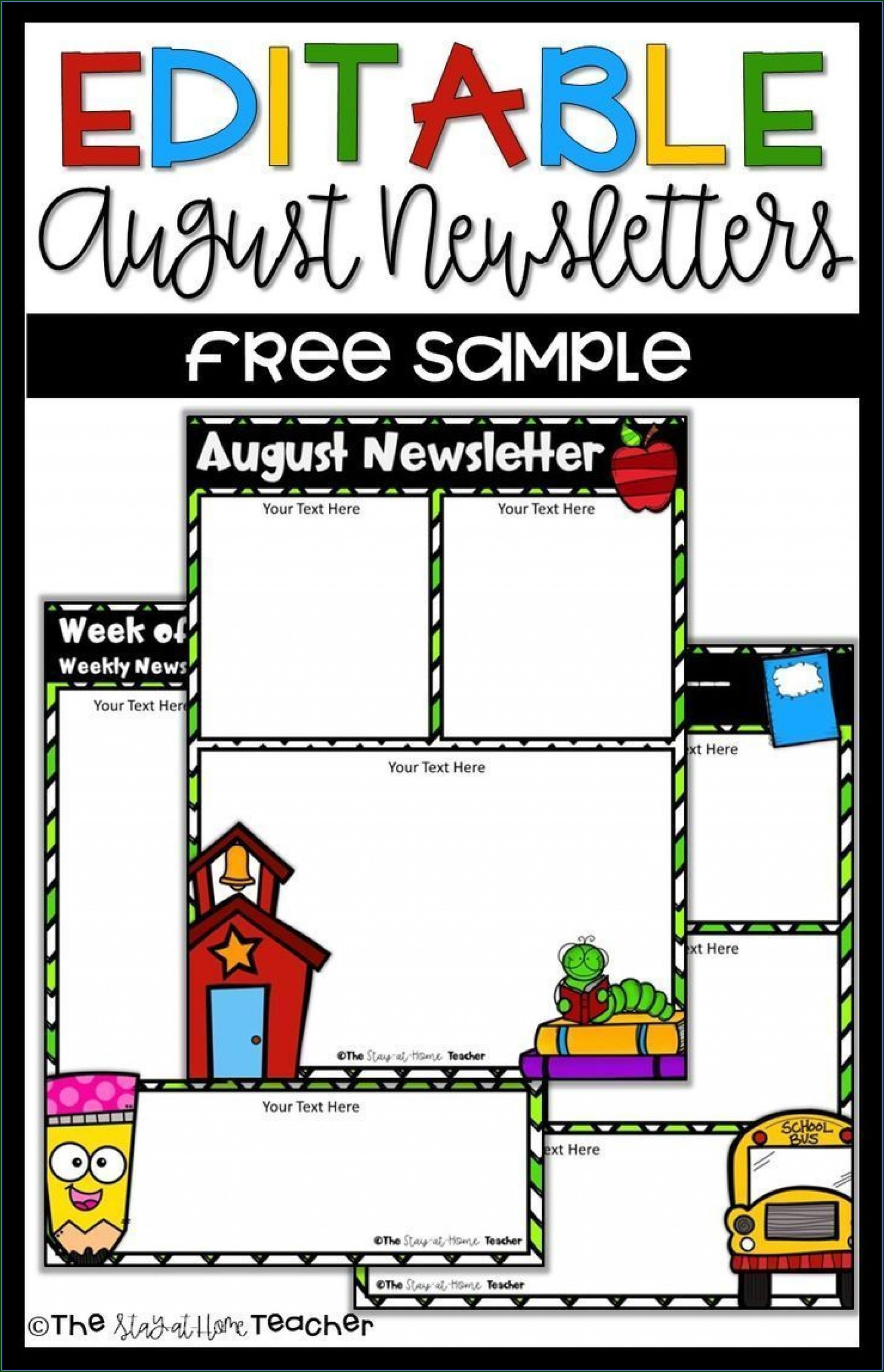 Free Editable Daycare Newsletter Templates For Word