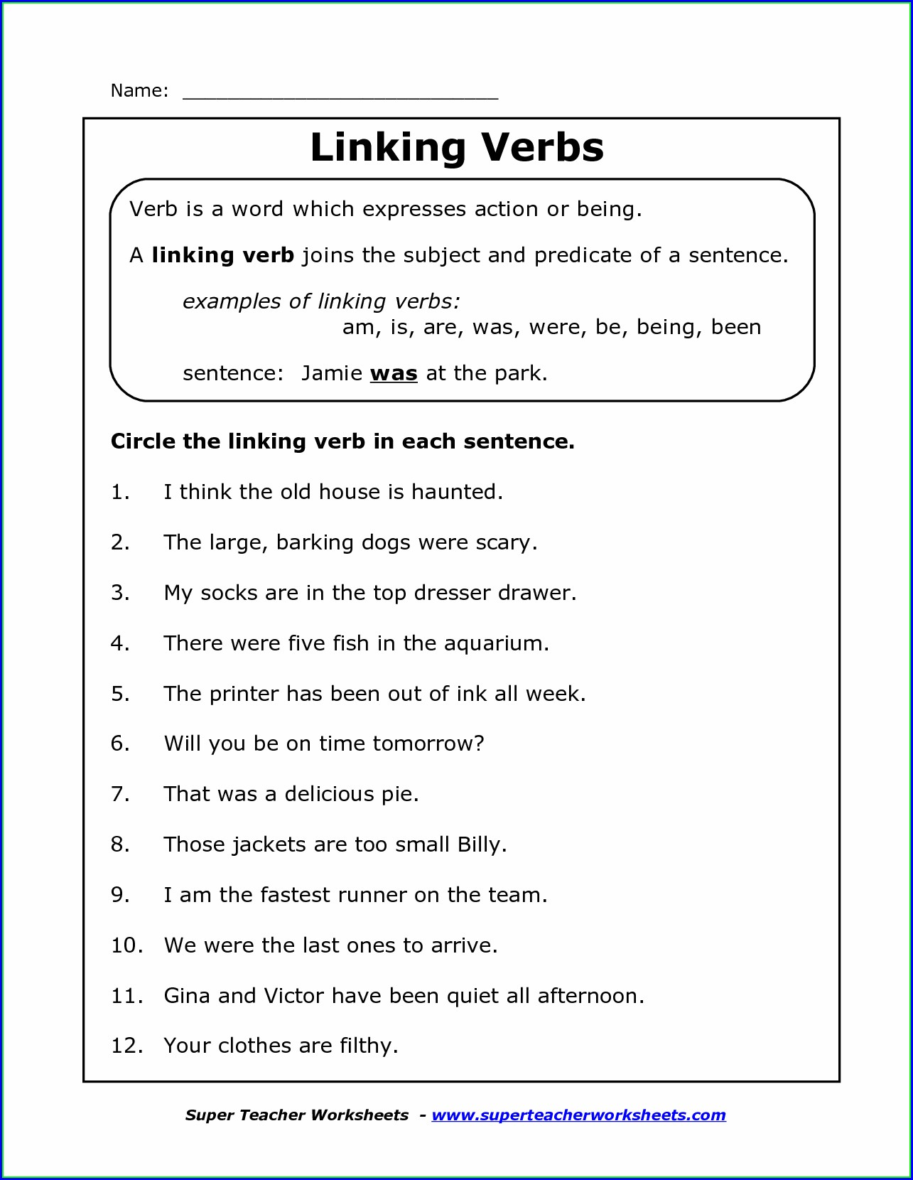 hight resolution of Helping Verbs Worksheets Grade 8   Printable Worksheets and Activities for  Teachers