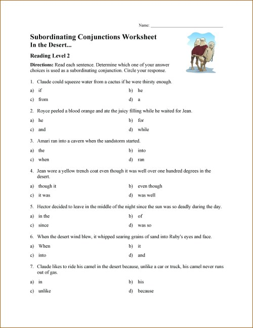 small resolution of Coordinating Conjunction Worksheet Answer Sheet   Printable Worksheets and  Activities for Teachers