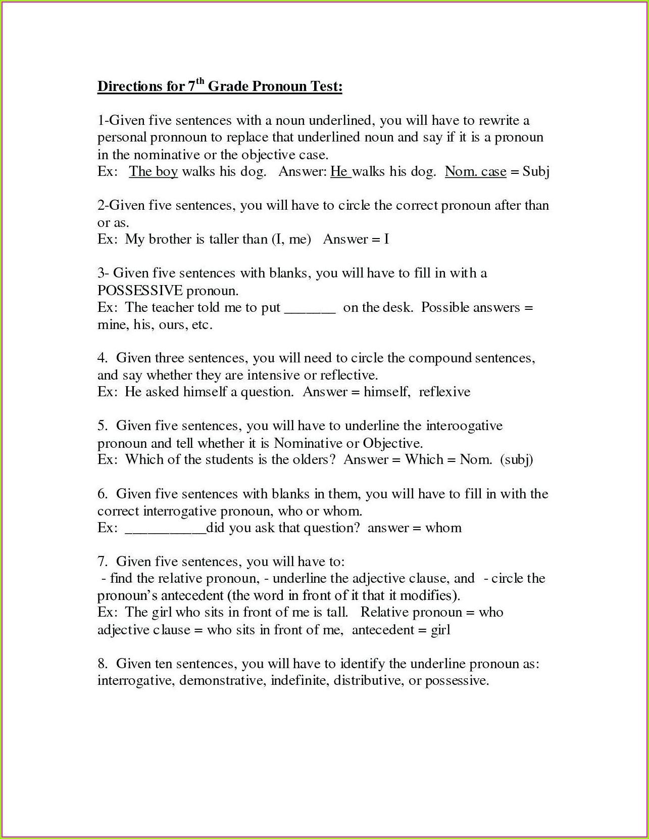 Year 7 English Comprehension Worksheets Worksheet Resume