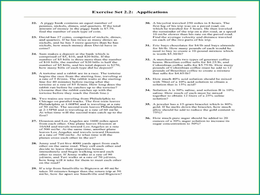 7th Grade Algebra Word Problems Worksheet Worksheet