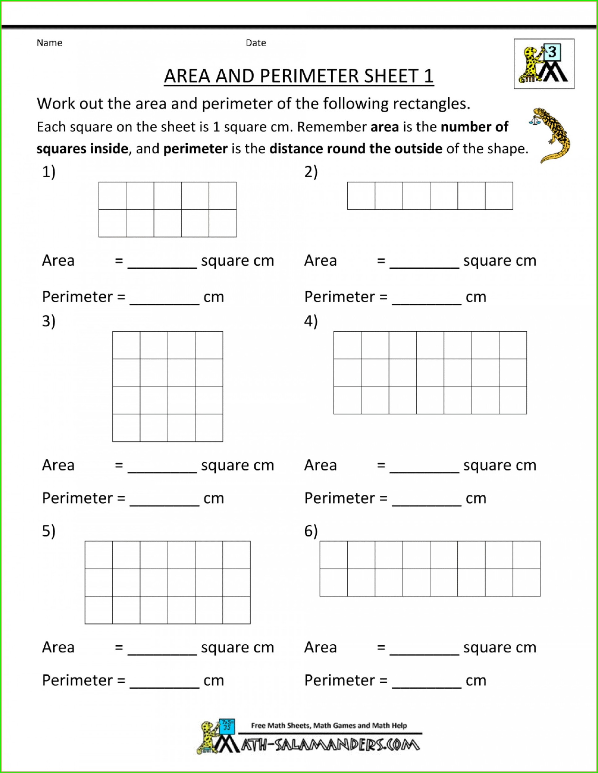 hight resolution of Free Perimeter Worksheets For 3rd Grade   Printable Worksheets and  Activities for Teachers