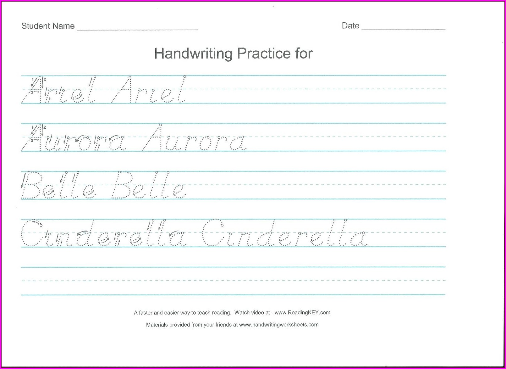 Handwriting Without Tears Preschool Lesson Plans Worksheet