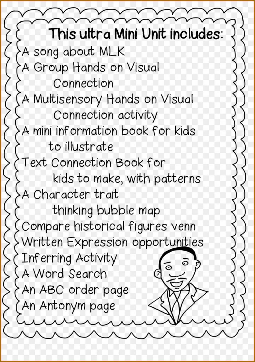 Martin Luther King Jr Day Lesson Plans 3rd Grade Worksheet
