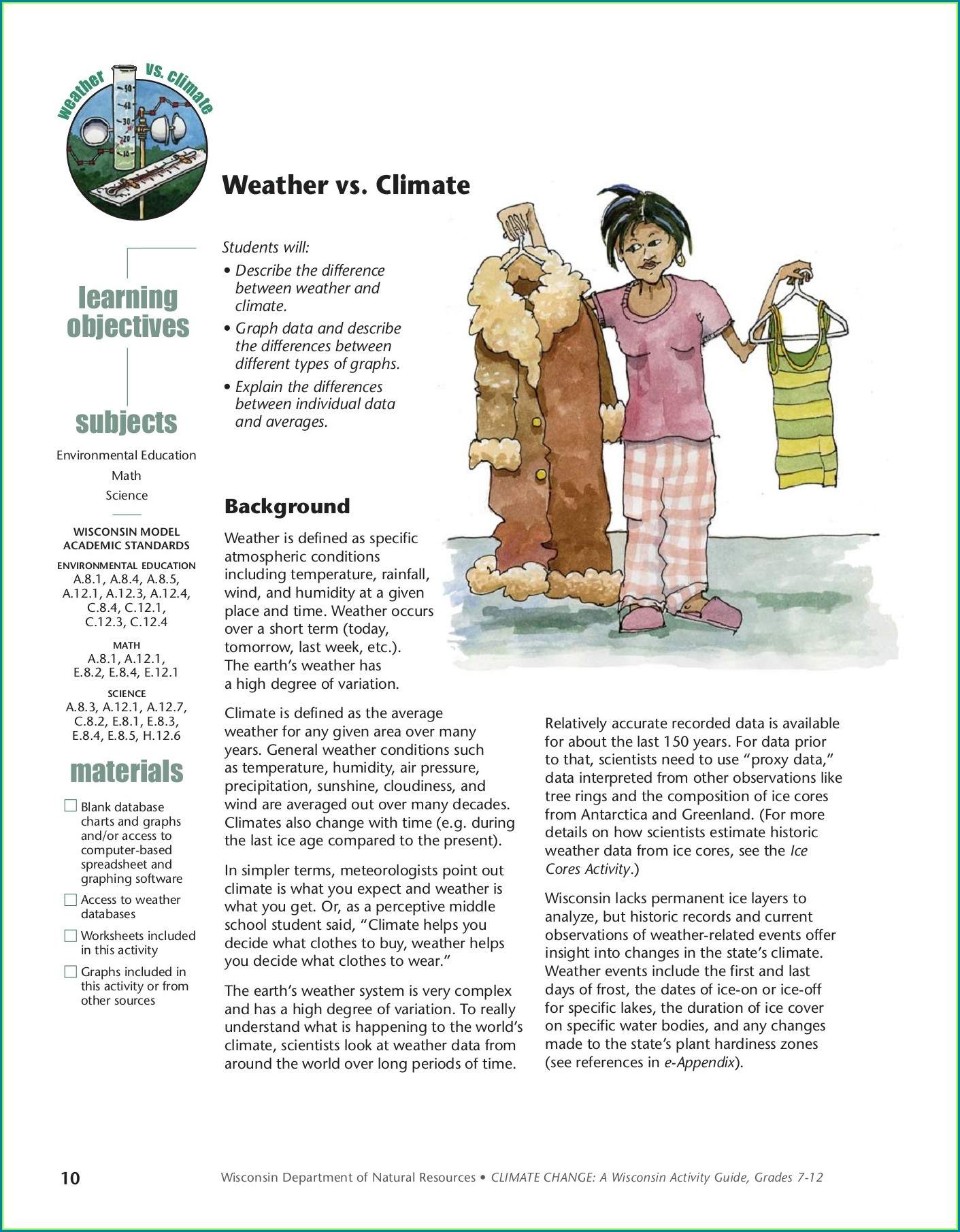 3rd Grade Weather And Climate Worksheets Worksheet
