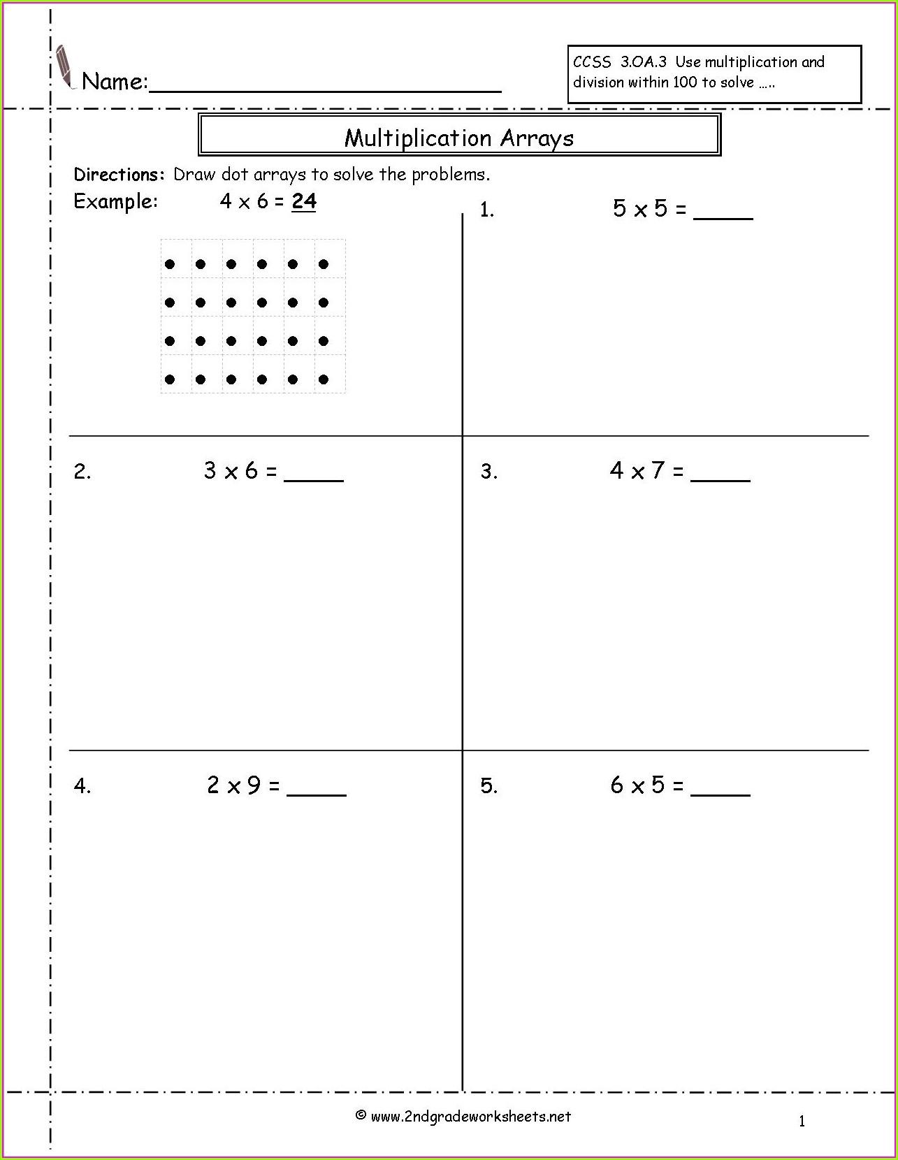 Multiplication Column Method Worksheet Year 4 Worksheet