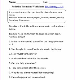 Pronouns And Antecedents Worksheets 7th Grade   Printable Worksheets and  Activities for Teachers [ 2210 x 1710 Pixel ]