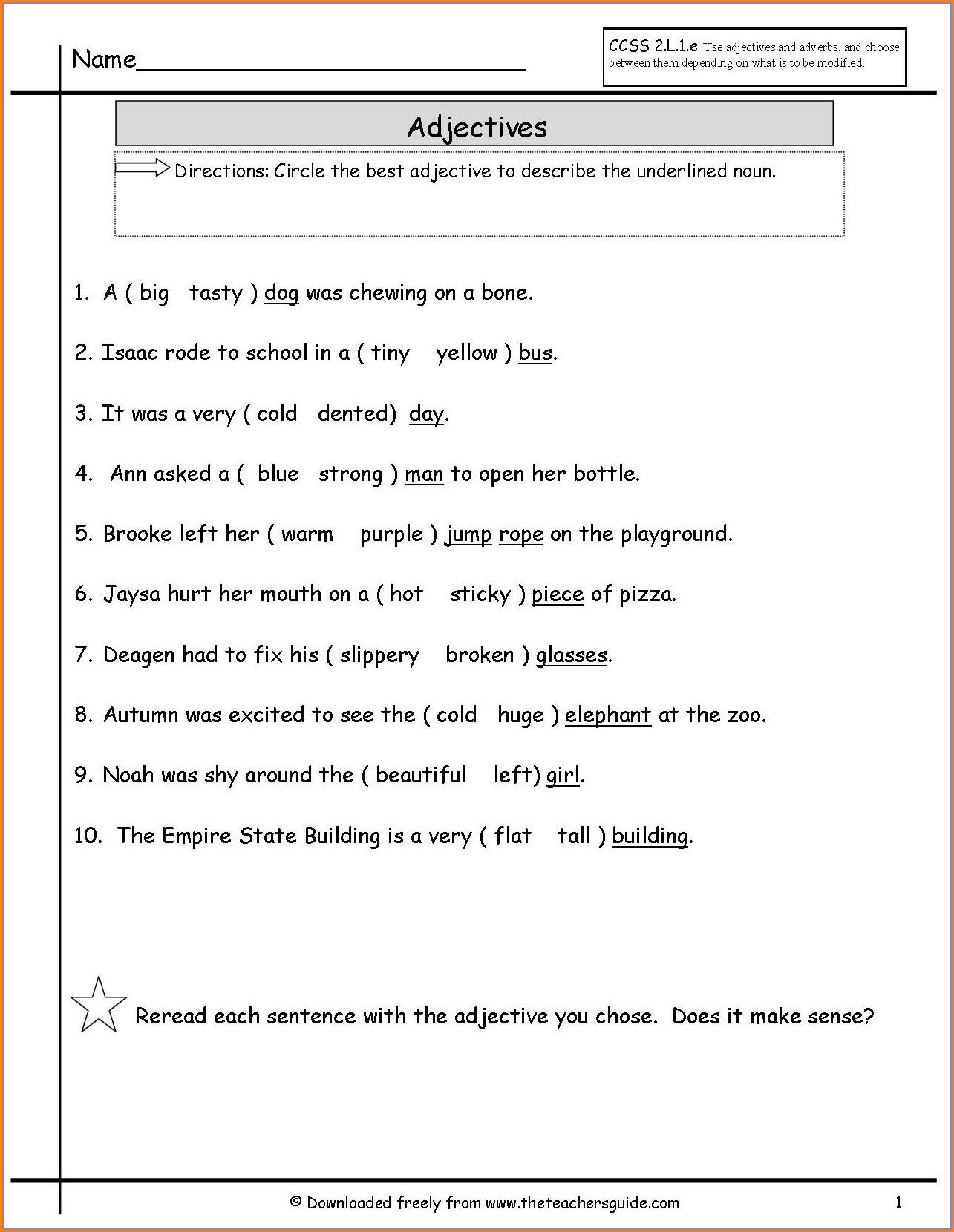 Subject Verb Agreement Worksheet Grade 5 Worksheet