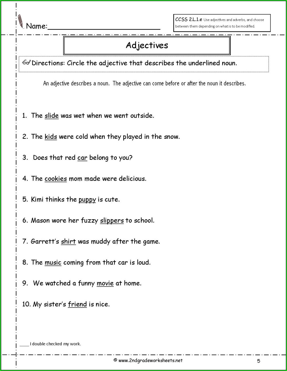 medium resolution of Adverbs Er Est Ly Worksheet Grade 2   Printable Worksheets and Activities  for Teachers