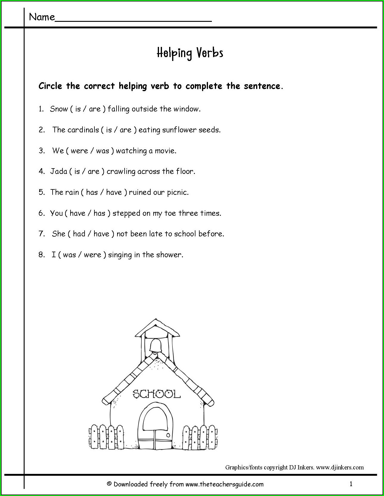 3rd Grade Main And Helping Verbs Worksheet Worksheet