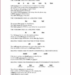 Helping Verbs Worksheets Grade 8   Printable Worksheets and Activities for  Teachers [ 1660 x 1285 Pixel ]
