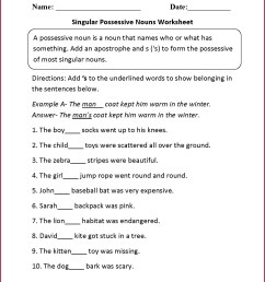 3rd Grade Grammar Worksheet Plural Possessives   Printable Worksheets and  Activities for Teachers [ 1660 x 1285 Pixel ]