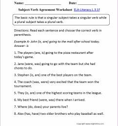 4th Grade Simple Predicate Worksheet   Printable Worksheets and Activities  for Teachers [ 2210 x 1710 Pixel ]