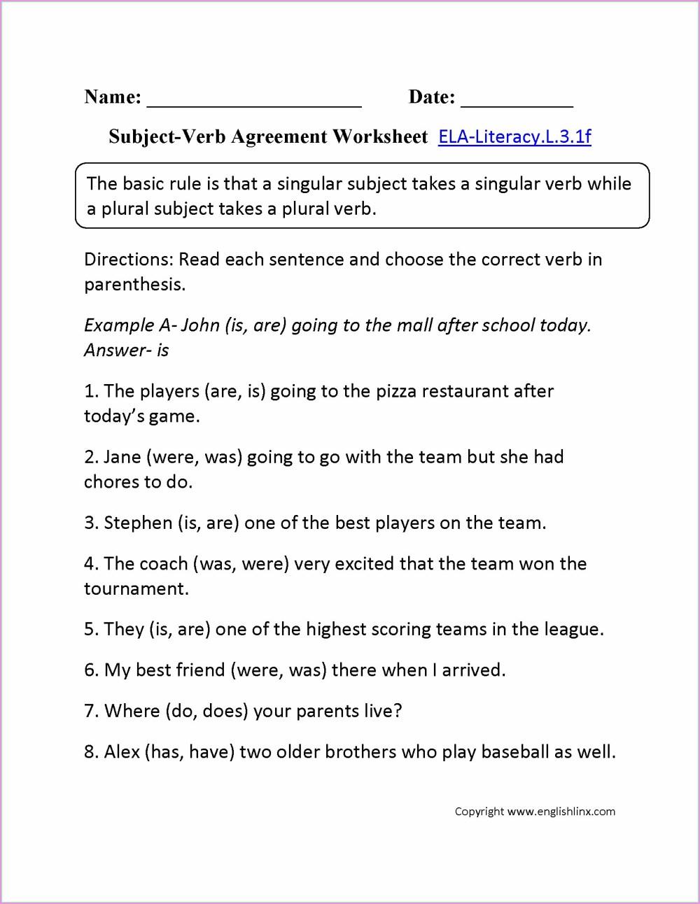 medium resolution of 4th Grade Simple Predicate Worksheet   Printable Worksheets and Activities  for Teachers