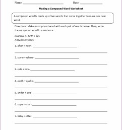 Compound Words Worksheets 5th Grade   Printable Worksheets and Activities  for Teachers [ 1660 x 1285 Pixel ]