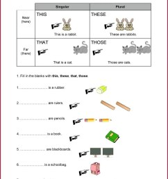 Worksheets Demostrative Pronouns   Printable Worksheets and Activities for  Teachers [ 1450 x 1028 Pixel ]