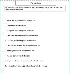 Descriptive Adjectives Worksheet 3rd Grade   Printable Worksheets and  Activities for Teachers [ 1660 x 1285 Pixel ]