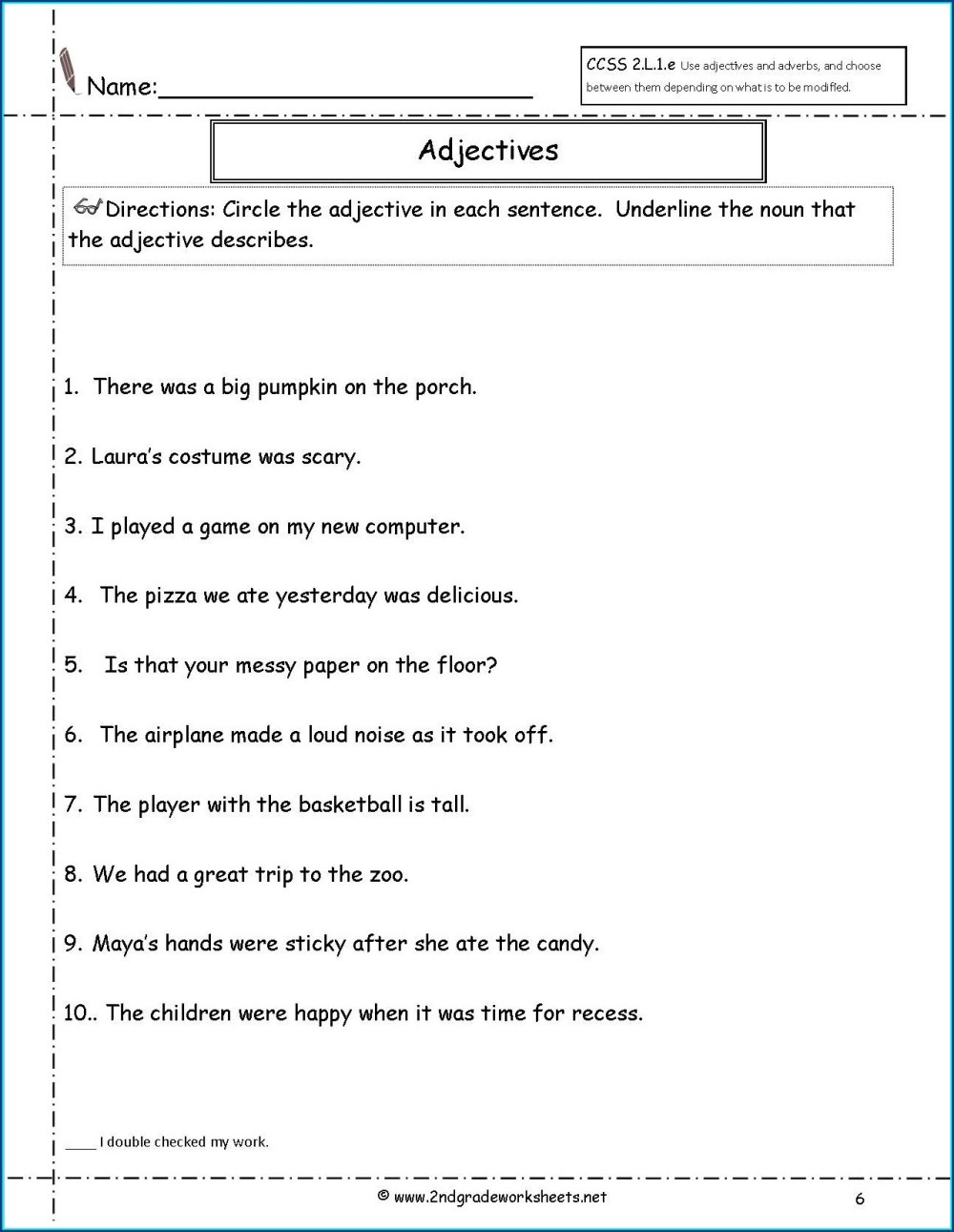 medium resolution of Descriptive Adjectives Worksheet 3rd Grade   Printable Worksheets and  Activities for Teachers