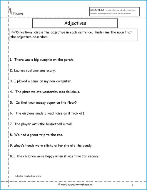 small resolution of Descriptive Adjectives Worksheet 3rd Grade   Printable Worksheets and  Activities for Teachers