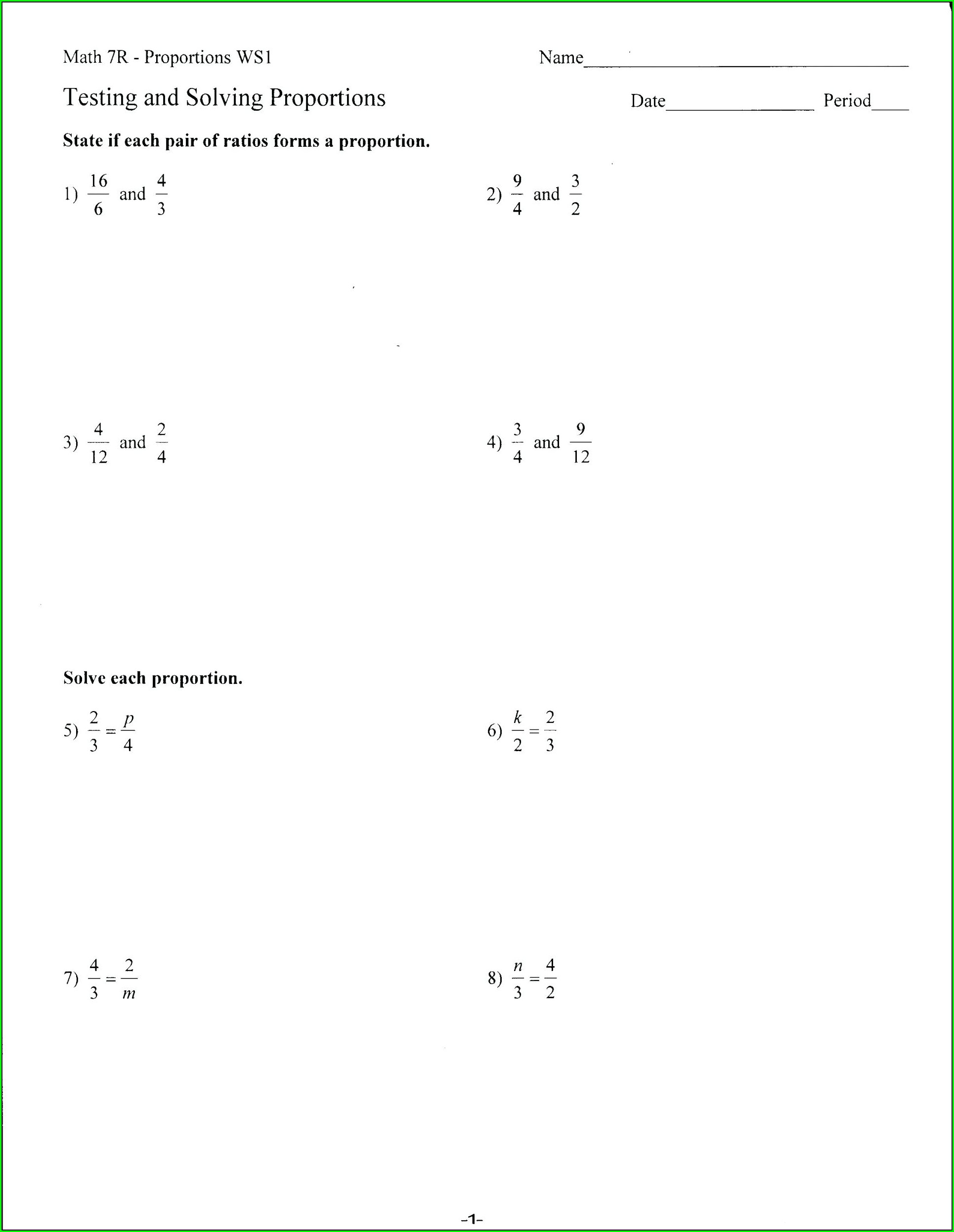 Fractions Equivalent To Whole Numbers Worksheet Worksheet