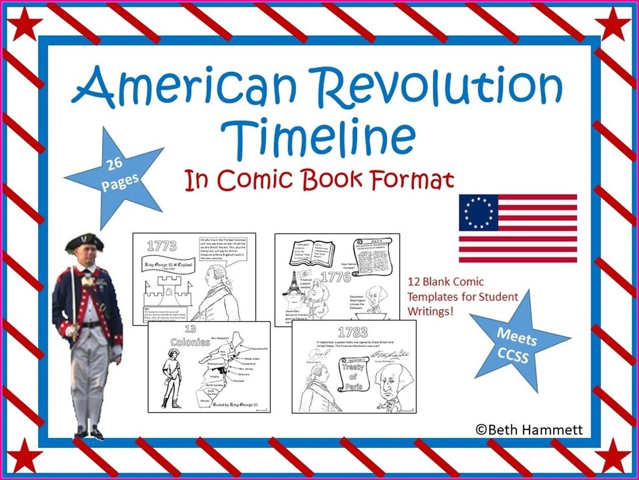 Free Printable American Revolution Timeline Worksheet
