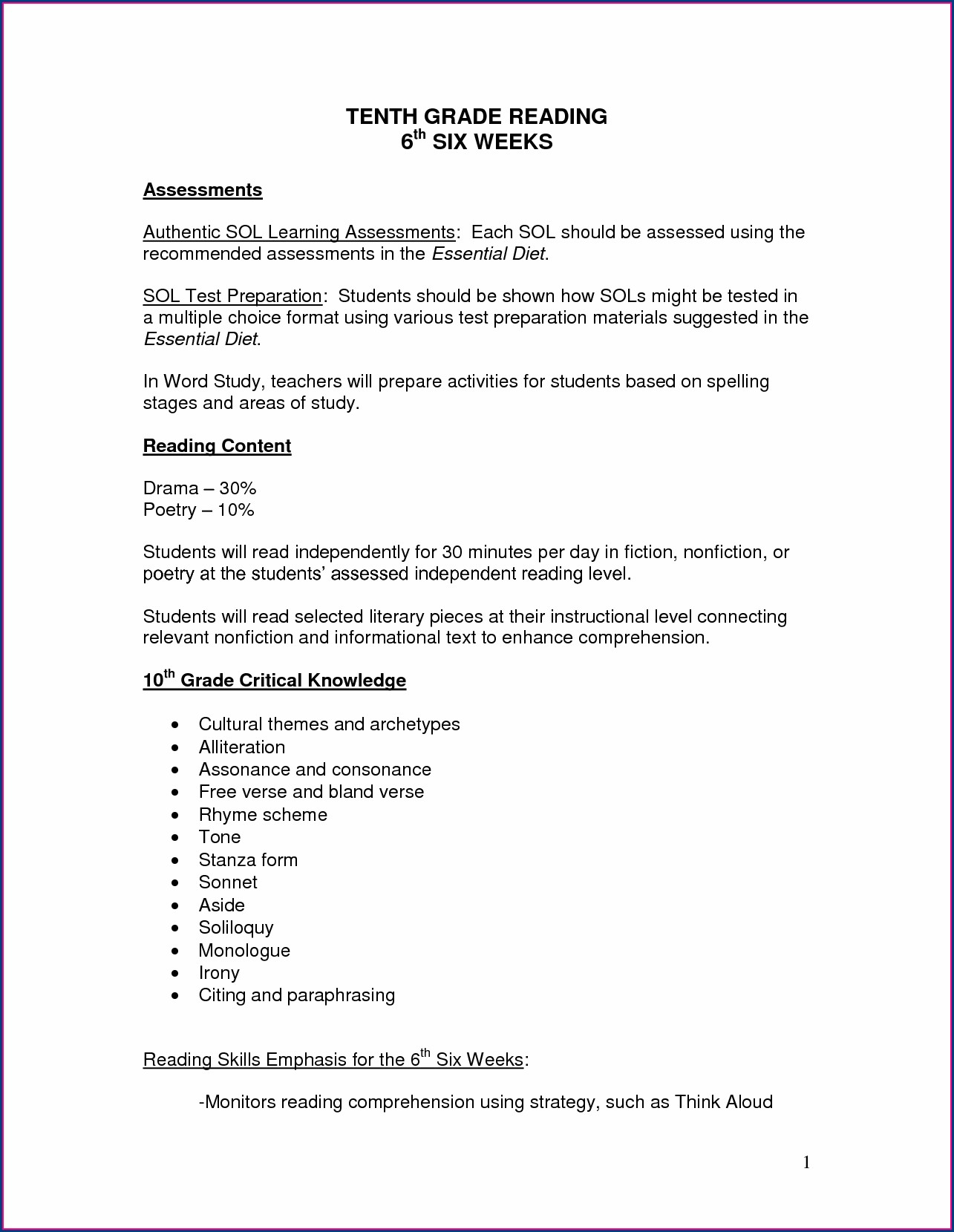 Grade 6 English Worksheets Printable Worksheet Resume
