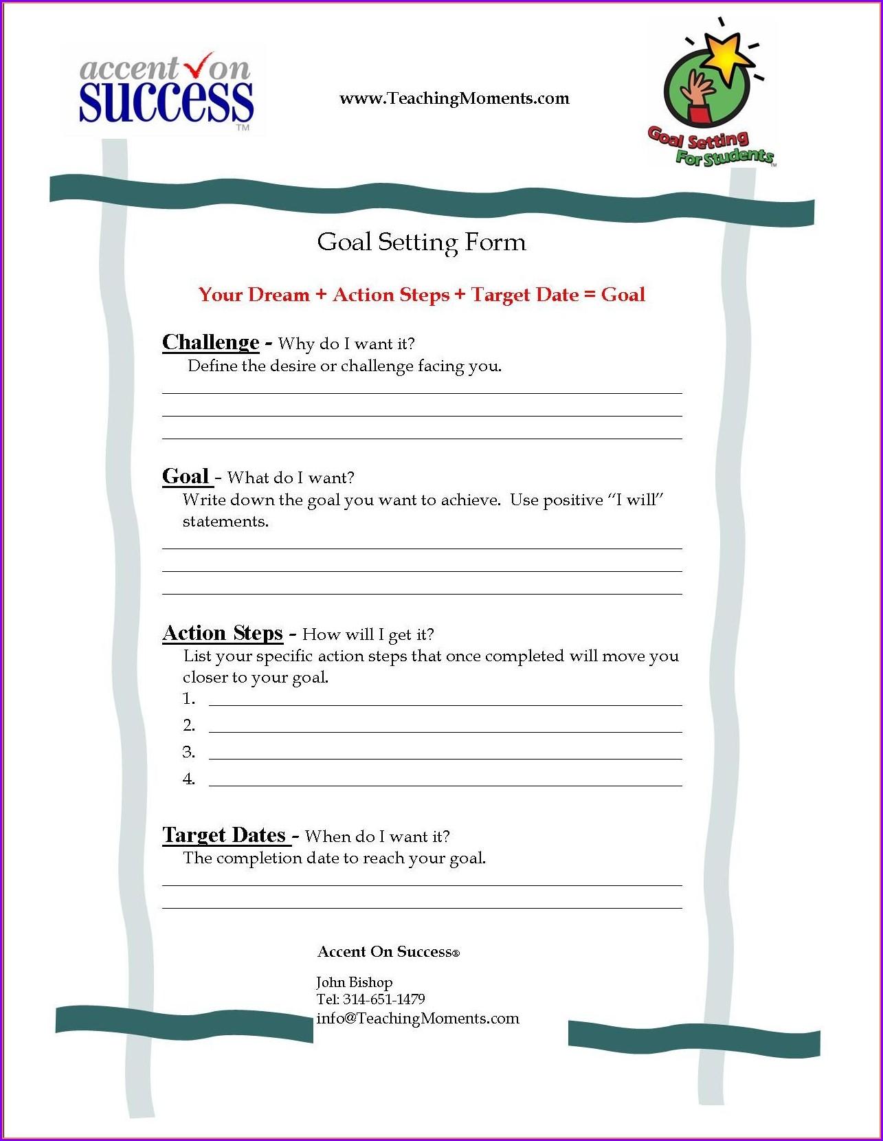 Week 2 Goal Setting Worksheet Worksheet Resume Examples