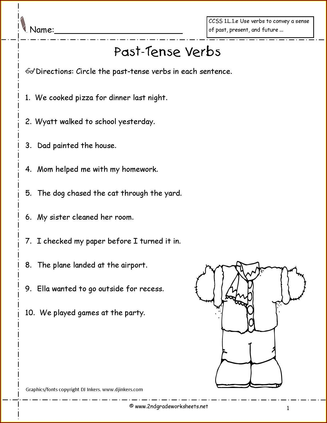 hight resolution of Irregular Verbs Worksheets 2nd Grade   Printable Worksheets and Activities  for Teachers