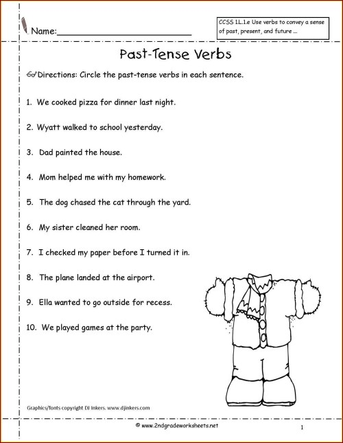 small resolution of Irregular Verbs Worksheets 2nd Grade   Printable Worksheets and Activities  for Teachers