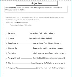 Adjective Worksheets 5th   Printable Worksheets and Activities for  Teachers [ 1660 x 1285 Pixel ]