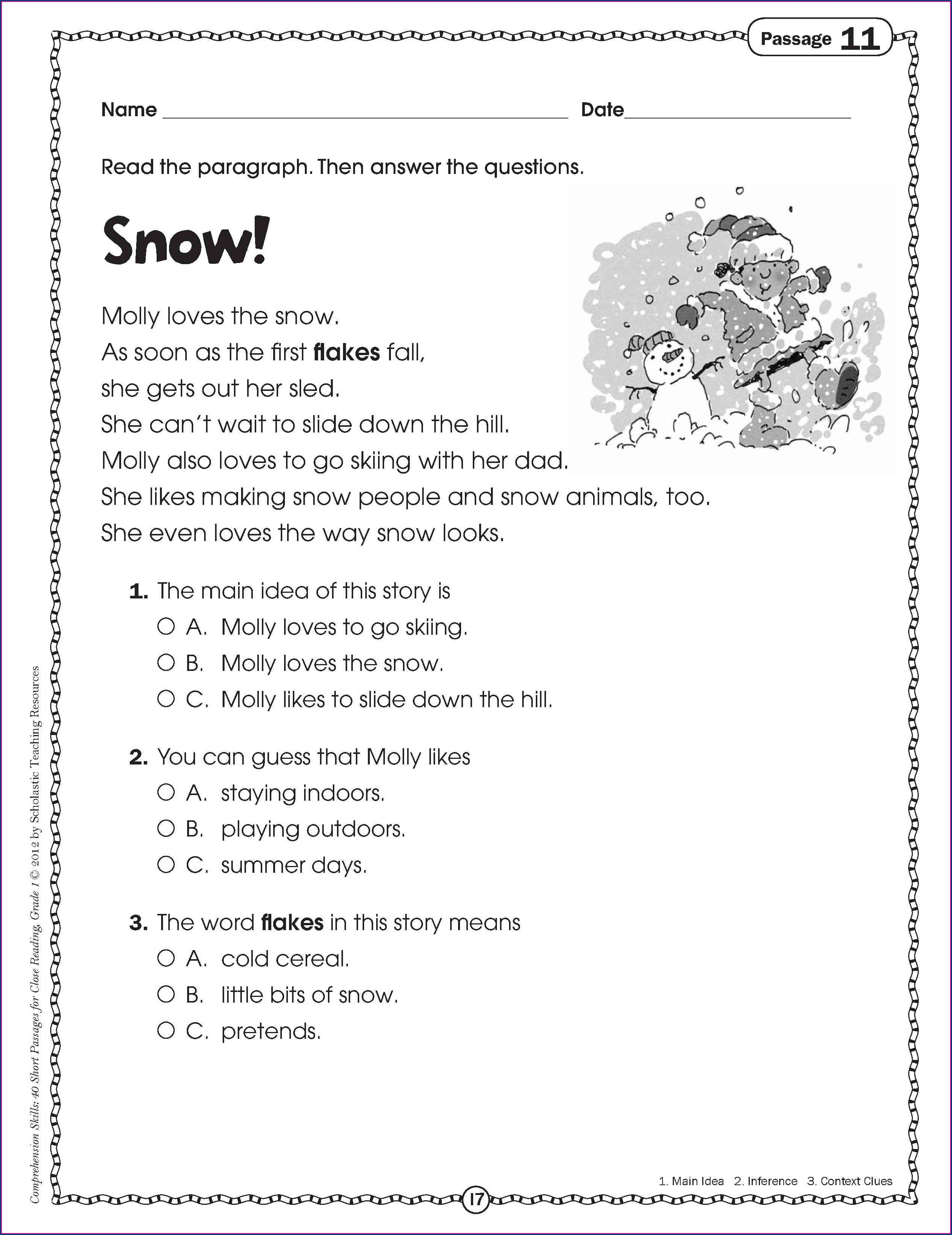 Context Clues Worksheets 3rd Grade Worksheet Resume