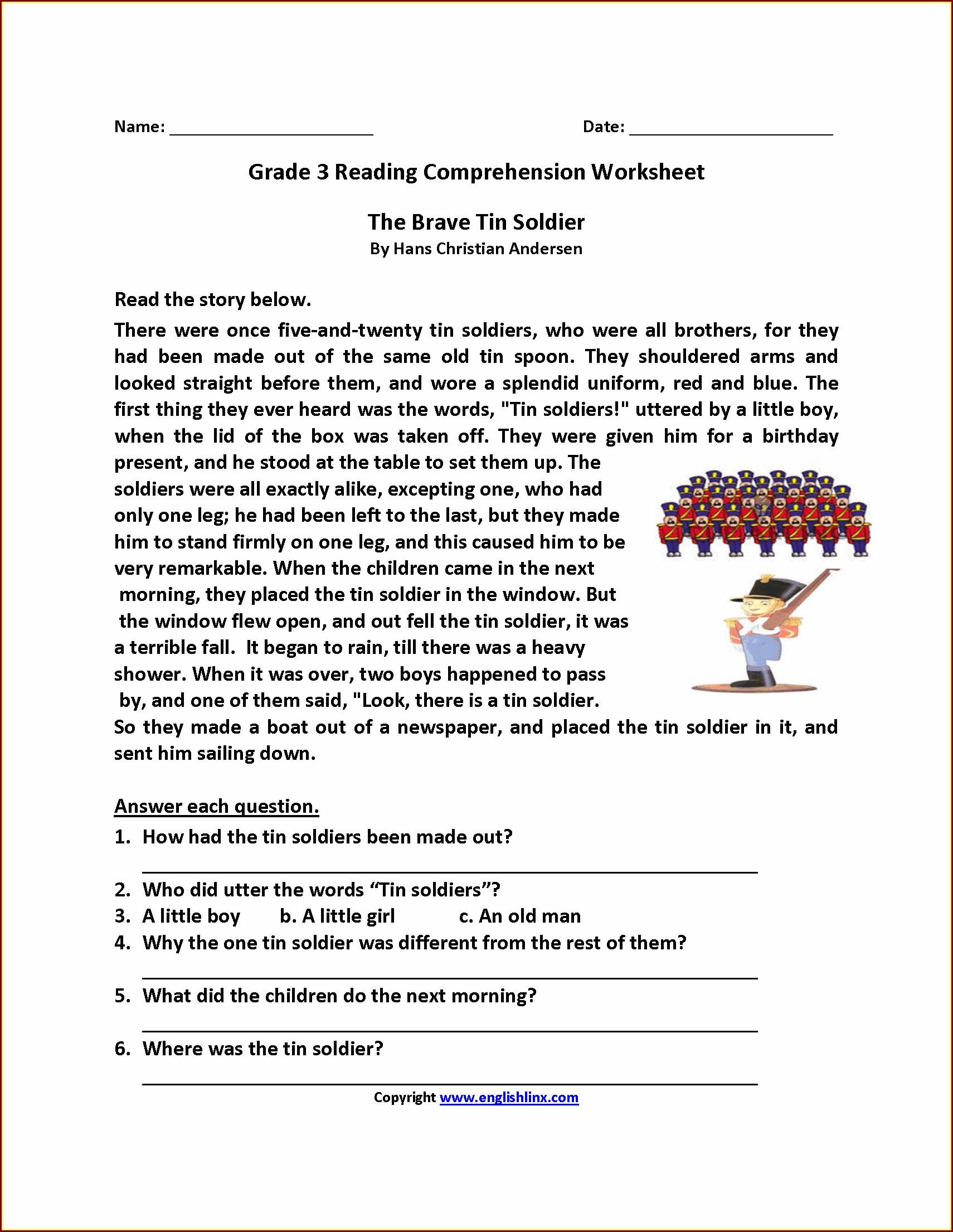 Comprehension Worksheet Year 3 Worksheet Resume Examples