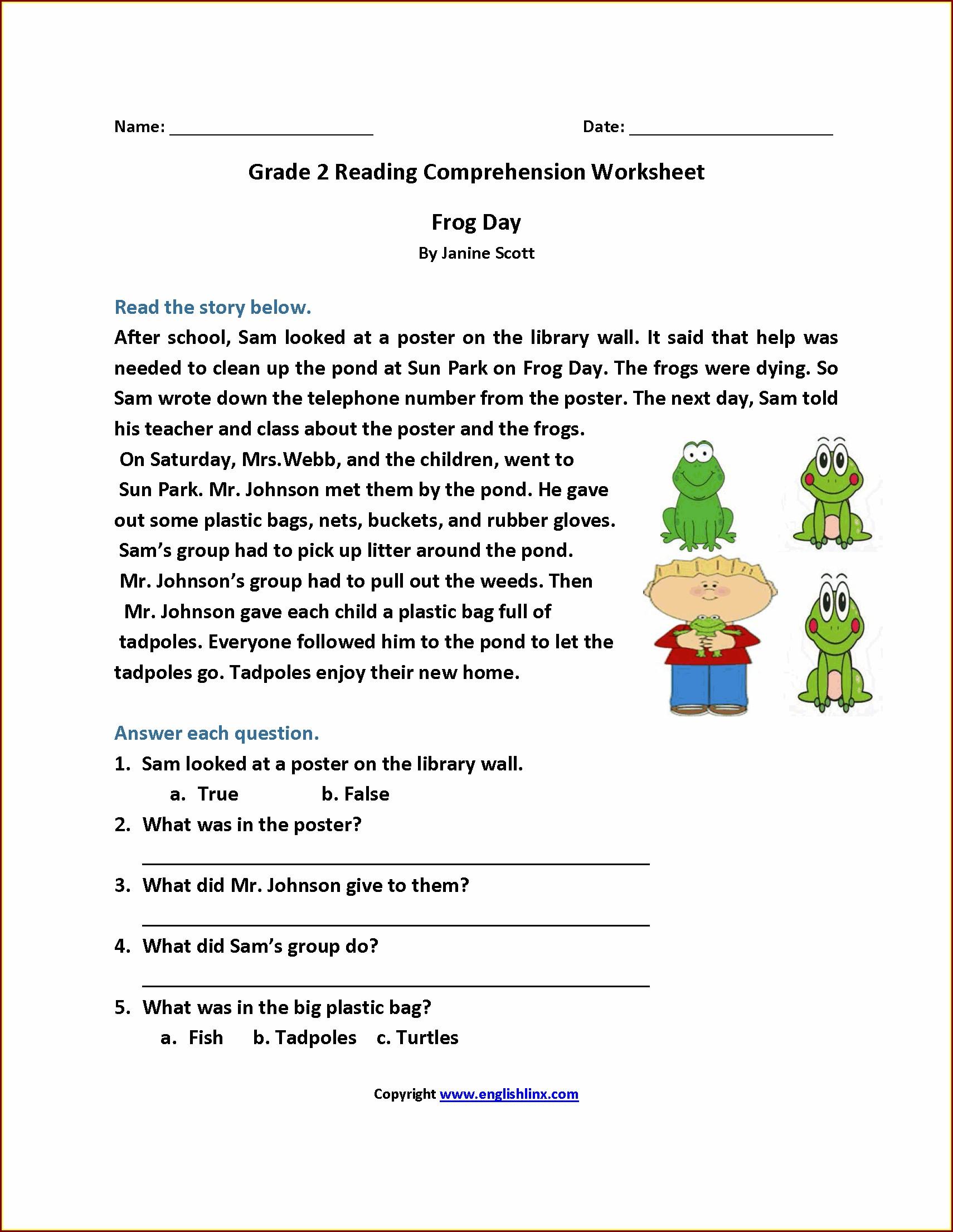 Second Grade Character Traits Worksheet 2nd Grade