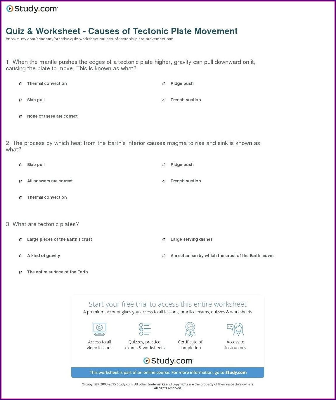 How Tectonic Plates Move Worksheet Answers Worksheet