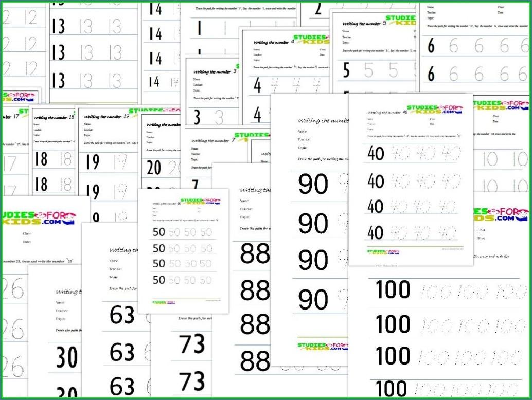 Number Tracing Worksheets 1 20 Worksheet Resume Examples