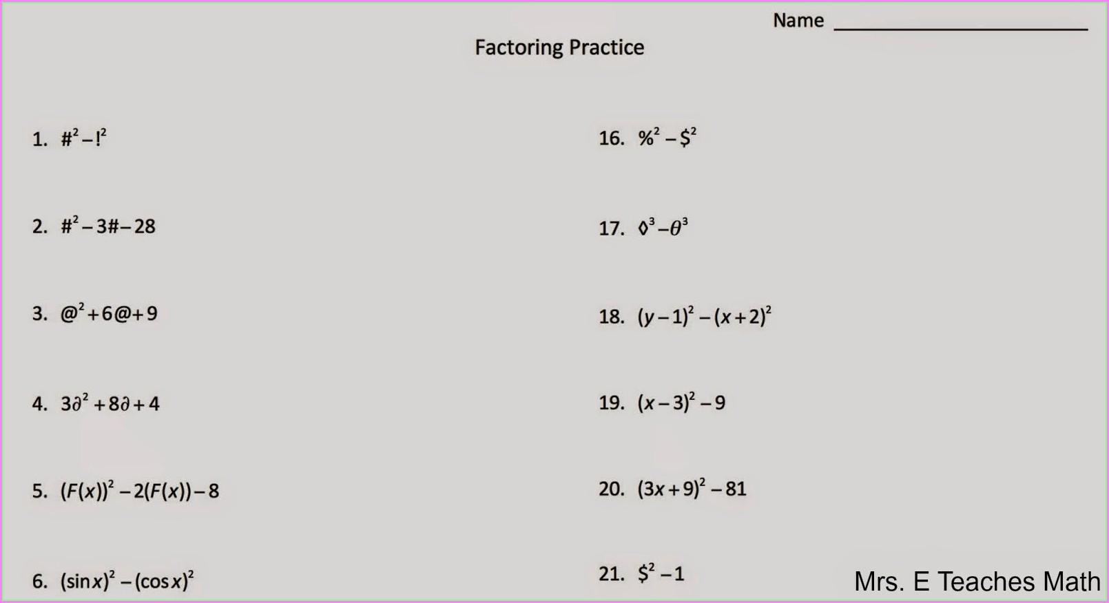 Word Problems Leading To Quadratic Equations Worksheets