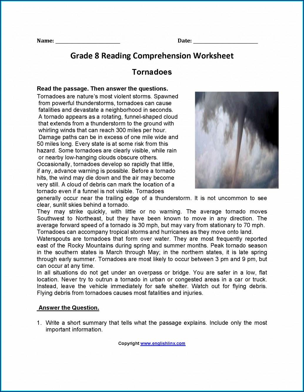 Reading Comprehension Worksheet Grade 3 Worksheet Resume
