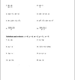 Algebraic Expressions Worksheets Grade 11   Printable Worksheets and  Activities for Teachers [ 2110 x 1285 Pixel ]