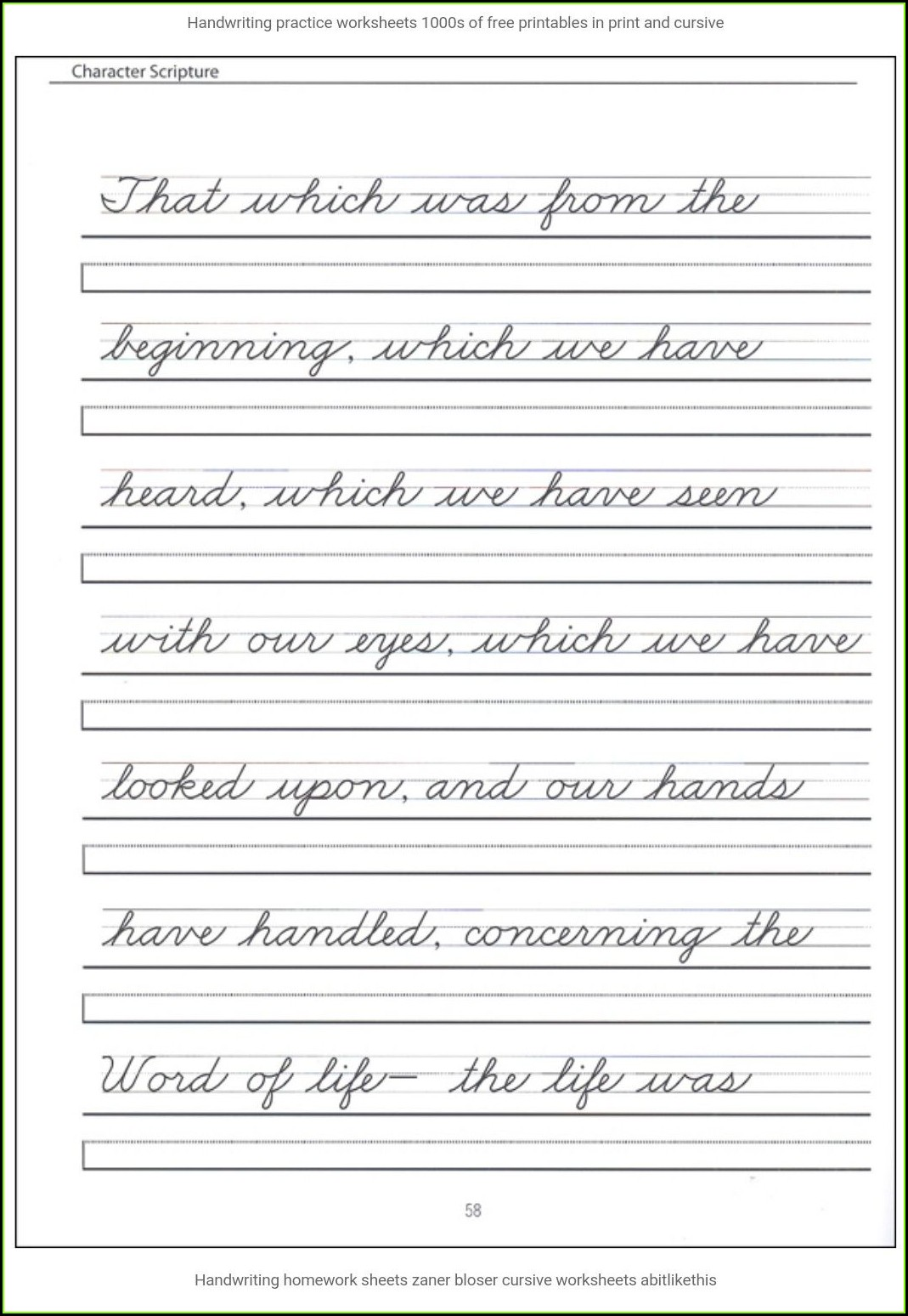 2nd Grade 1st Grade Cursive Writing Worksheets Worksheet