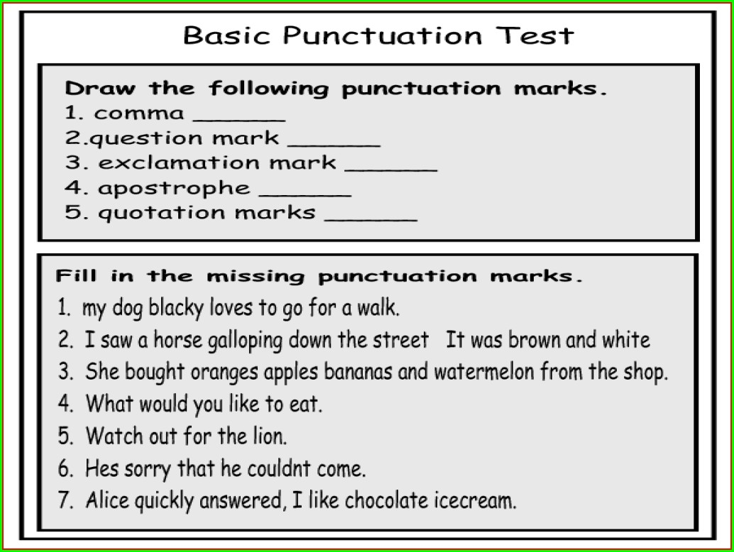 3rd Grade Quotation Marks Worksheets With Answers