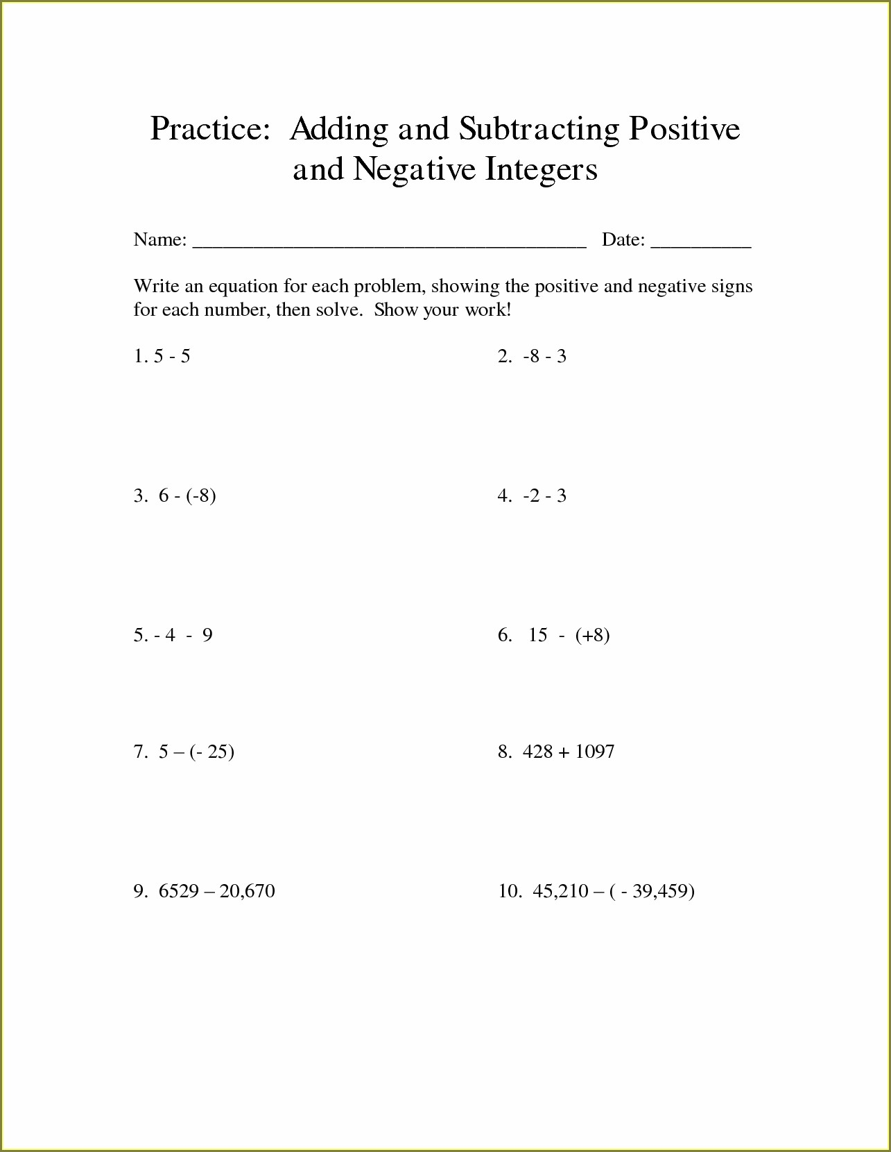 Adding And Subtracting Mixed Numbers Worksheet Tes