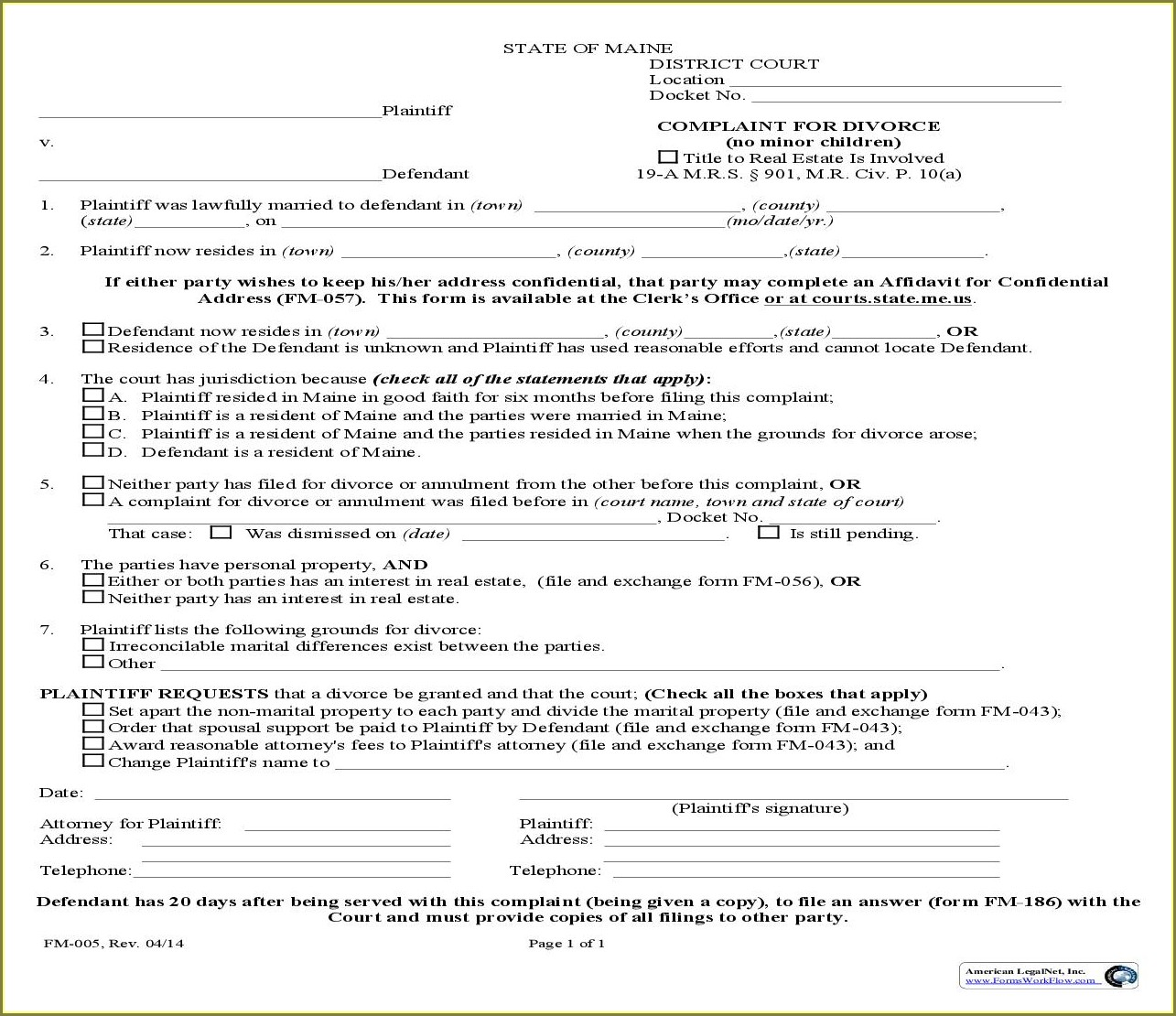 Child Support Supplemental Worksheet Maine Uncategorized
