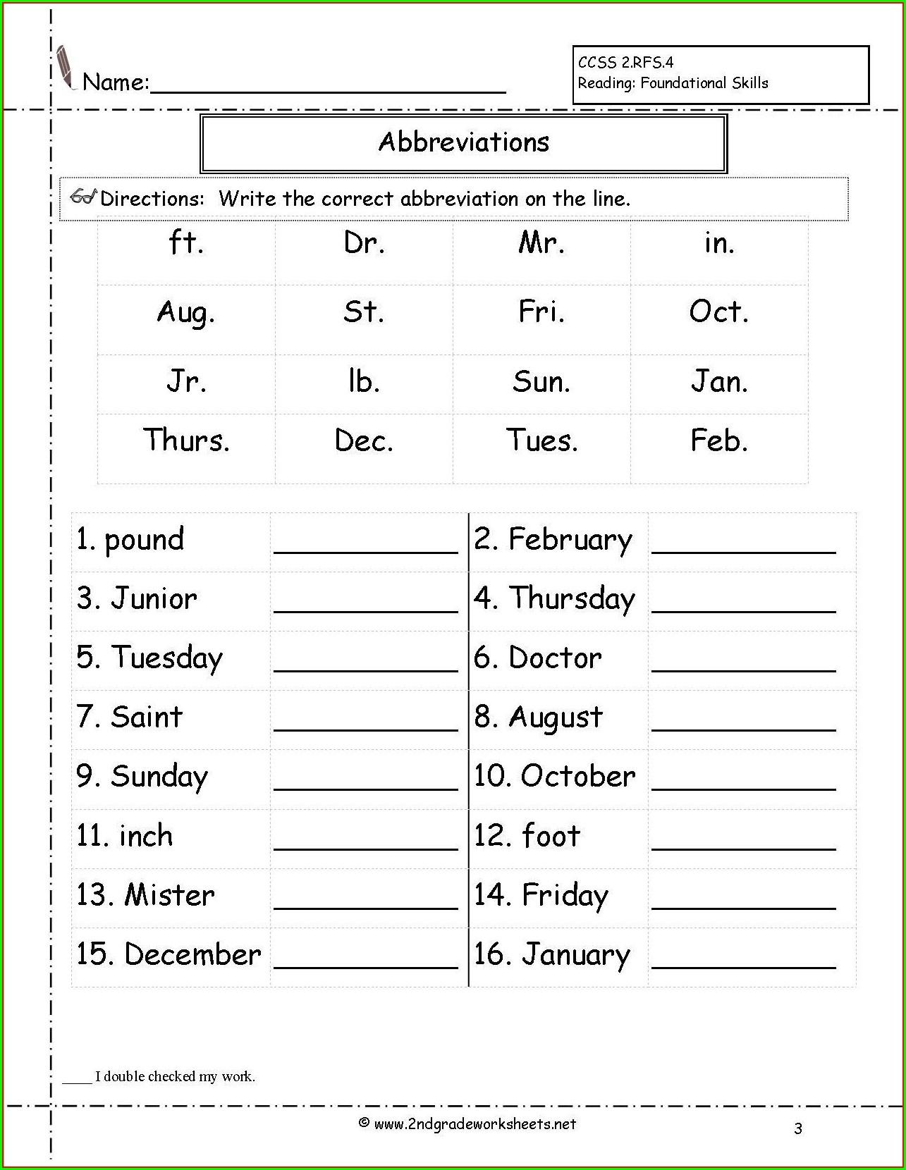 Grammar Free Printable 3rd Grade Worksheets Worksheet