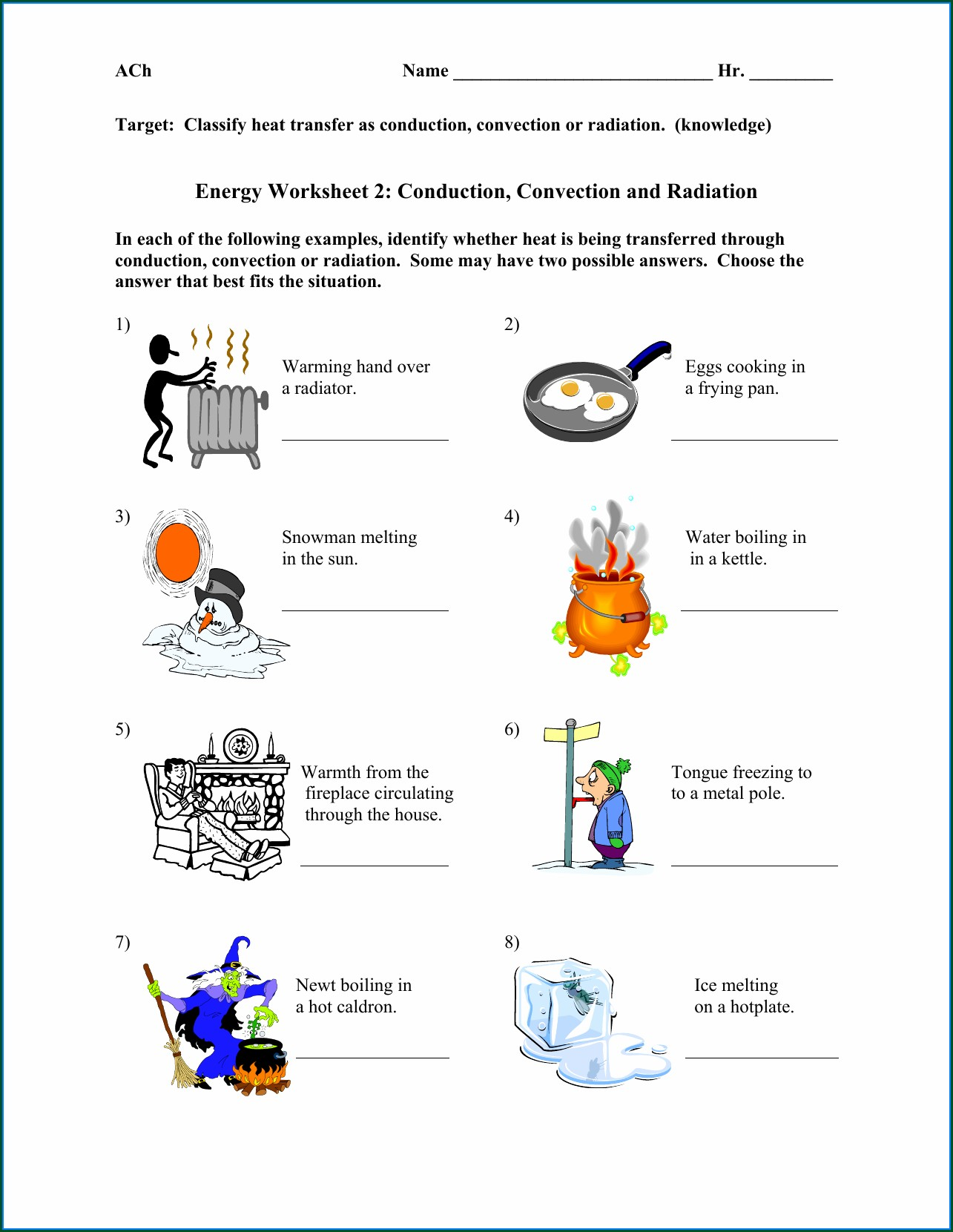 Heat Energy 3rd Grade Worksheets Worksheet Resume Examples