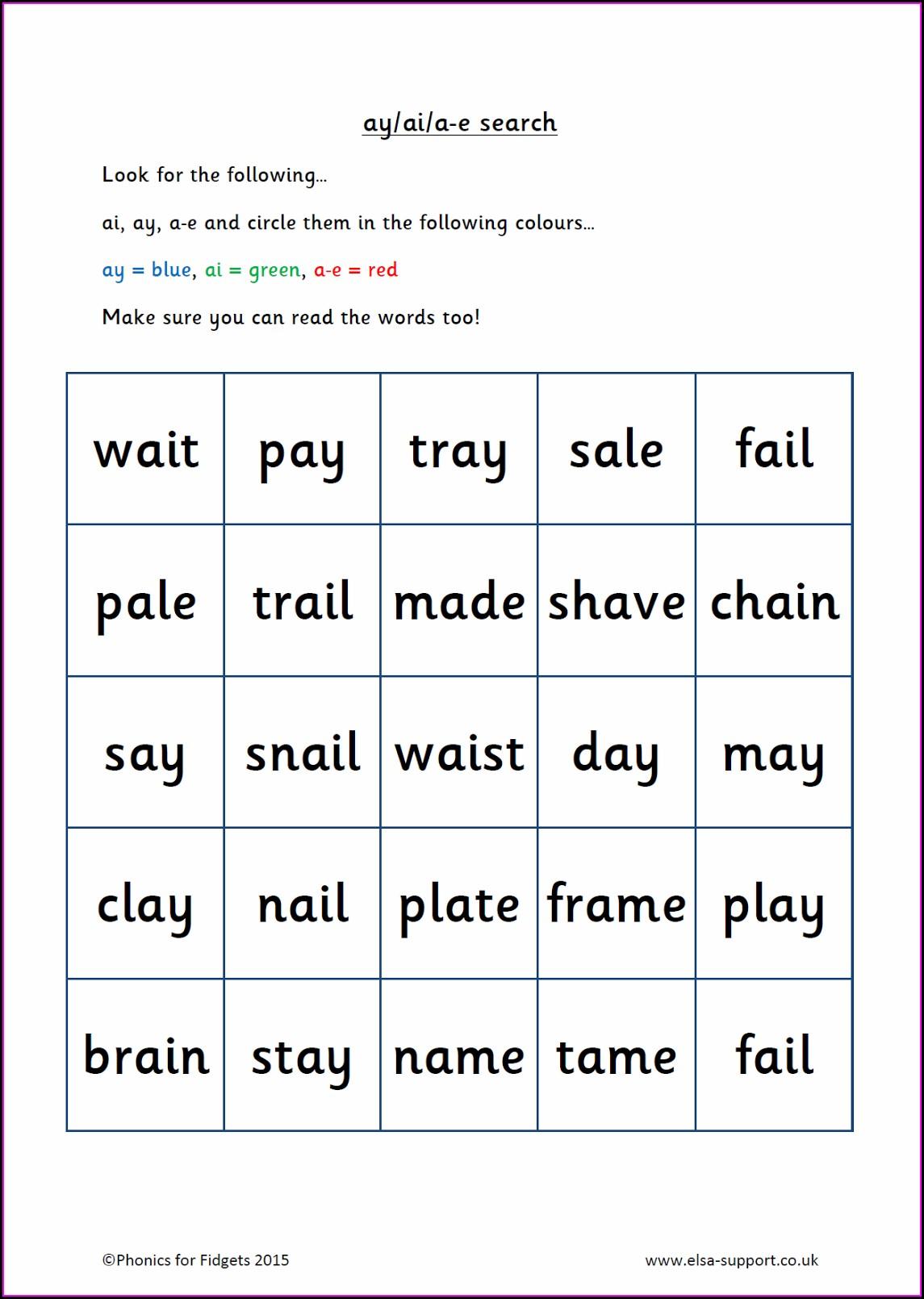 Free Printable Rhyming Words Worksheet For Kindergarten