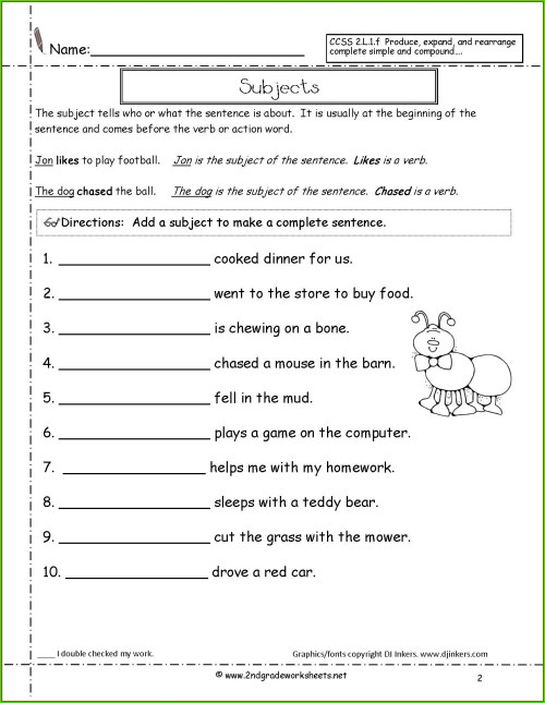 small resolution of College Sentence Worksheet   Printable Worksheets and Activities for  Teachers