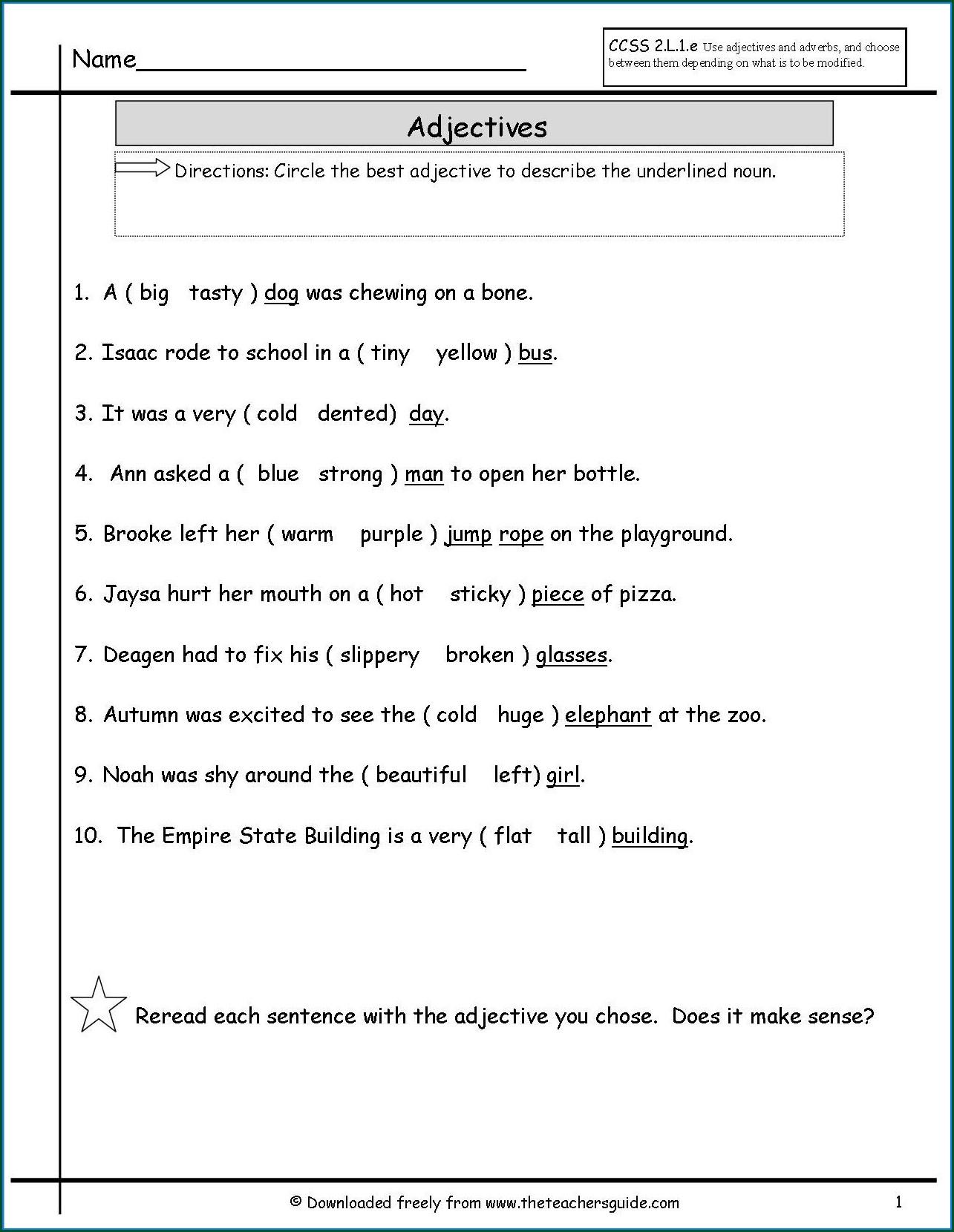 Subject Verb Agreement Printable Worksheets High School