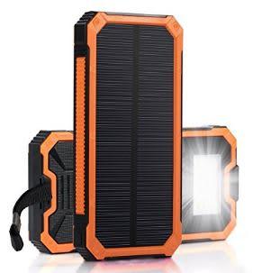 BalanceWorld 15000mah Solar Panel Charger- Orange