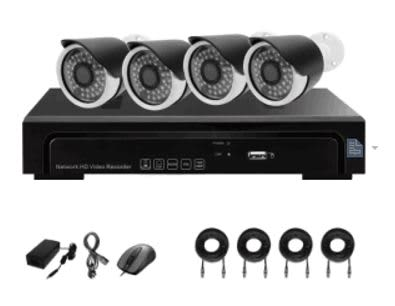 AEvision 4 Channel NVR 2MP IP Camera Kit