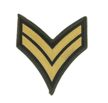 Corporal Chevron- Gold and Green